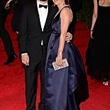 Tobey Maguire and his wife, Jennifer Meyer, showed love on the red carpet.