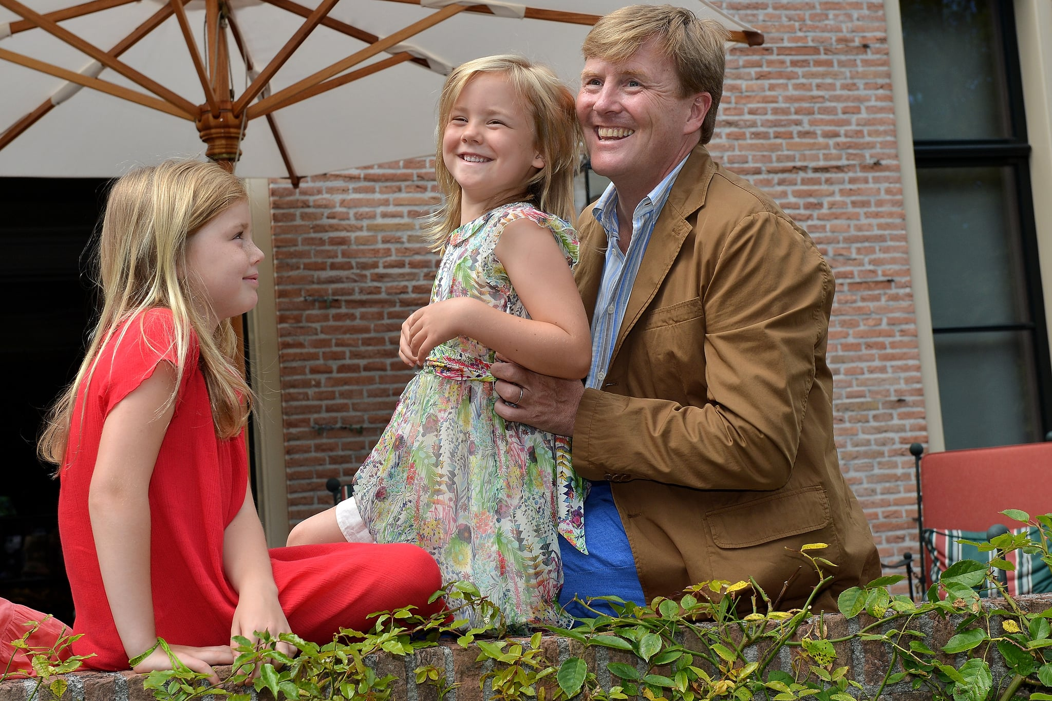 King Willem-Alexander and Princess Alexia laughed during the photocall.