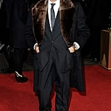 Valentino Garavani stepped out in London to attend the Les Miserables premiere.