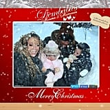 Her family's holiday card in 2012.