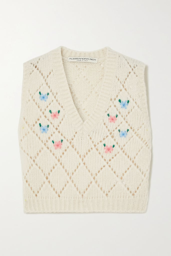 Alessandra Rich Embroidered Vest