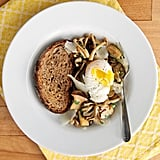Simple Sautéed Mushrooms With Poached Egg