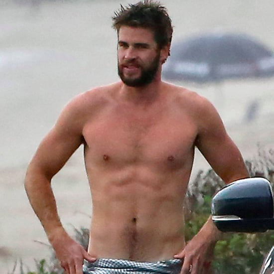 Liam Hemsworth Surfing in Malibu October 2016