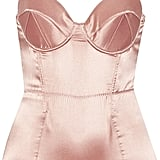 Le Fleur Du Mal Bullet Mesh-Paneled Stretch-Silk Satin Bodysuit ($350)
