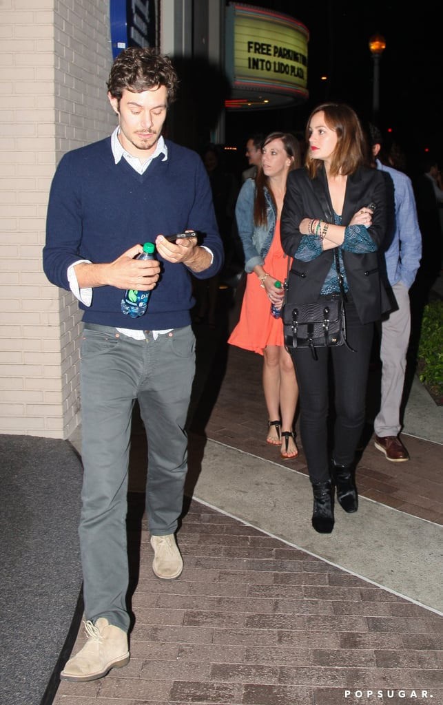 "Leighton Meester and Adam Brody had a Saturday date at the ArcLight Cinema in Hollywood. Adam and Leighton are going strong since news of their relationship broke back in February. They first crossed paths back in 2010 while making the film The Oranges but reportedly only took things to a romantic level last year. They'll have even more time to spend together on set since they're working on another picture. Leighton and Adam are starring in the comedy Life Partners, which began shooting in LA earlier this month.  Their Saturday evening at the movies came after Leighton answered a fan question on her Facebook page about her favorite TV shows. Leighton told her almost one million followers on Facebook, ""Breaking Bad is my favorite show. I love Nurse Jackie. I really love cooking shows."" She regularly gives a peek into her life on the Facebook page, also showing herself in a home studio working on new music."