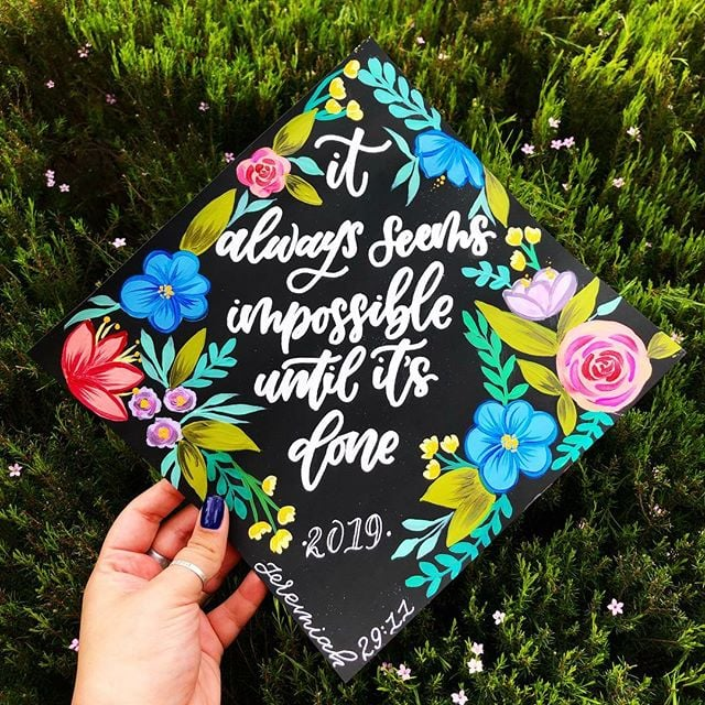 Creative Ideas For How To Decorate Your Graduation Cap Popsugar Smart Living
