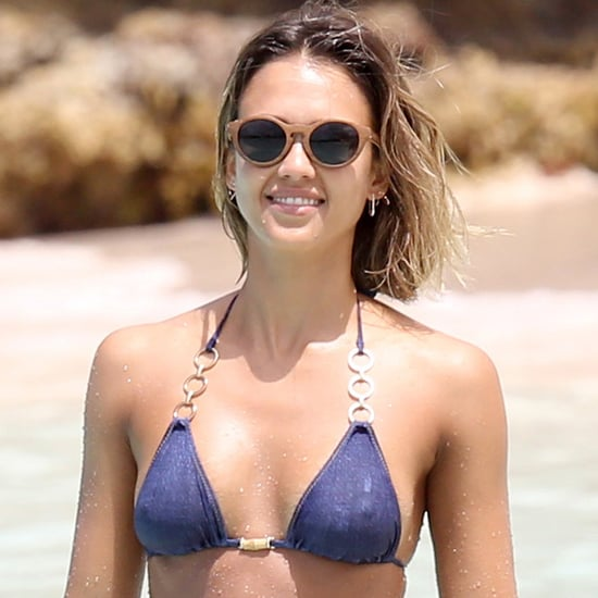 Jessica Alba in Her Bikini in the Caribbean