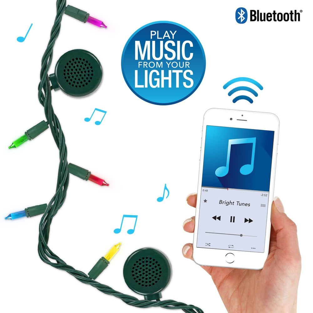 Bright Tunes Decorative String Lights with Bluetooth Speakers
