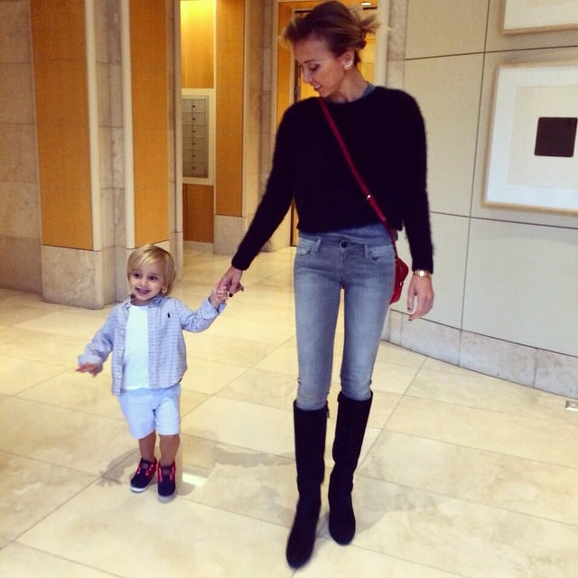 Giuliana Rancic held on to her son's hand as they walked ... - photo#12