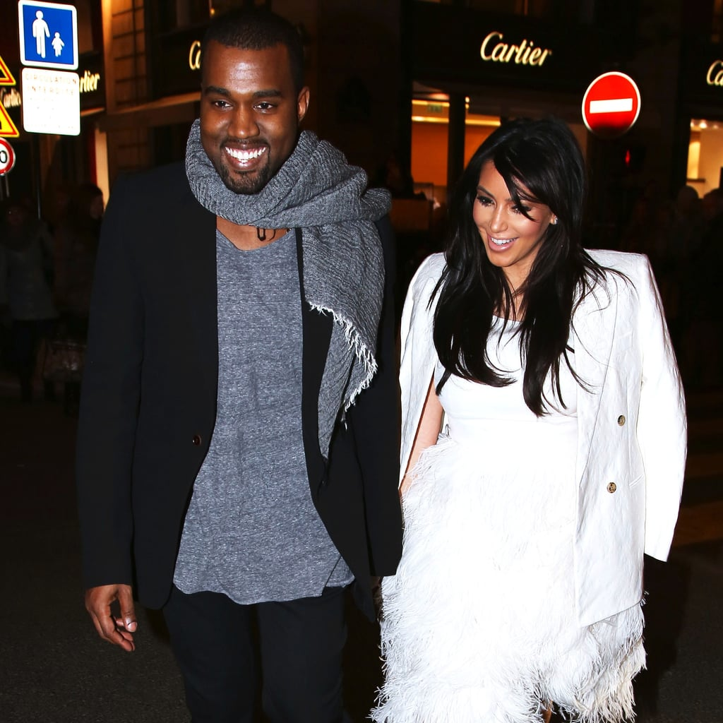 In late January, Kanye and pregnant Kim headed to Paris for Couture Fashion Week. On a romantic night out, the couple smiled and held hands as they made stops at Hermès, Lanvin, and Cartier.