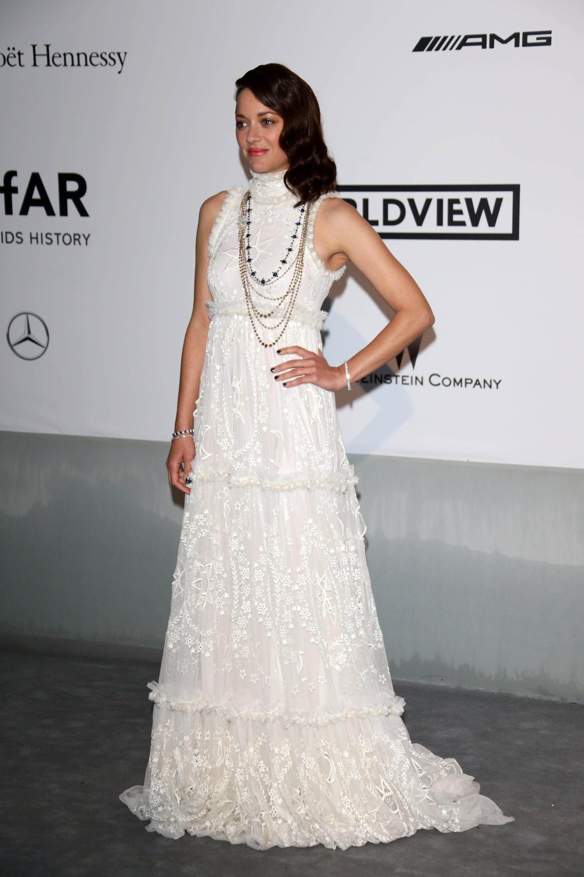 Marion Cotillard looking stunning in white.