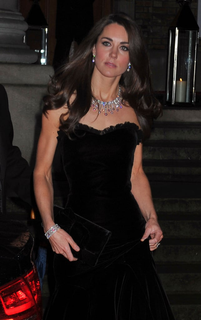 The source of a lavish diamond and ruby necklace and bracelet set has always been a mystery, although it has been confirmed it was a wedding gift from a close family member. Kate has only worn it once, but since the event she chose was The Sun Military Awards that she attended with Prince Harry — and Kate has a history of wearing items as a thoughtful tribute to the gift-giver — is it possible this bling came from her royal brother-in-law?