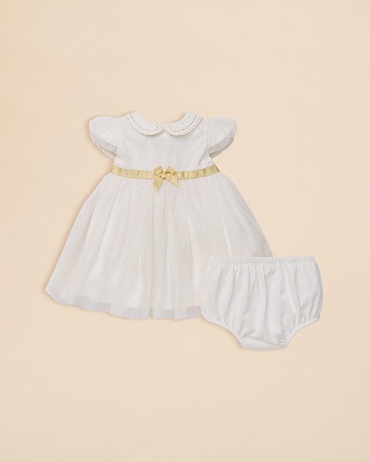 Little Me Infant Girls' Dot Dress & Bloomers Set