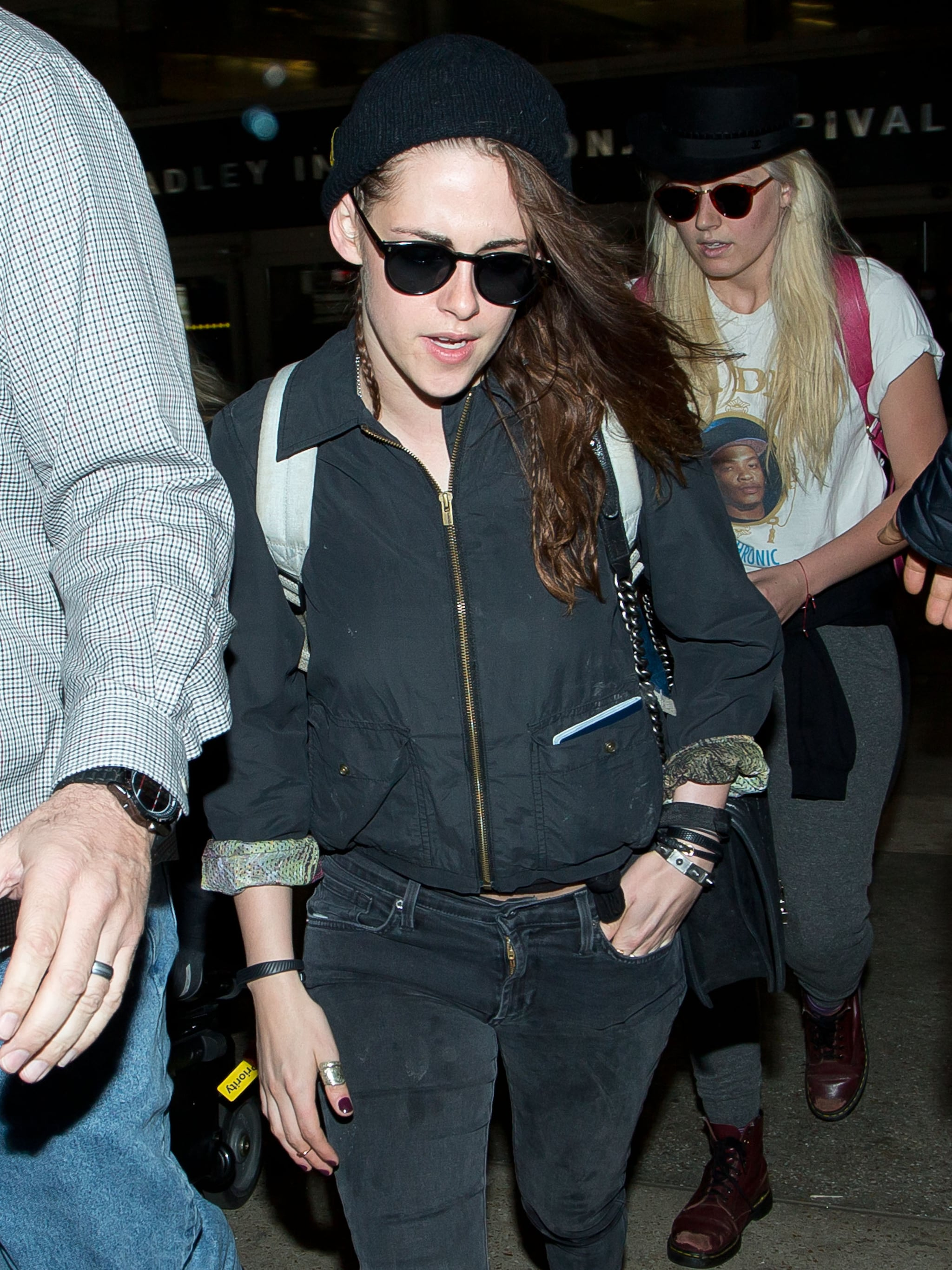 Kristen Stewart Wears Her Sunglasses at Night