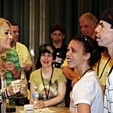 Carrie Underwood met with campers at the ACM Lifting Lives Music Camp.