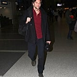 Bradley Cooper had a smile on his face as he traveled out of LAX.