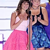Lea Michele gave a heartfelt speech at the Teen Choice Awards.