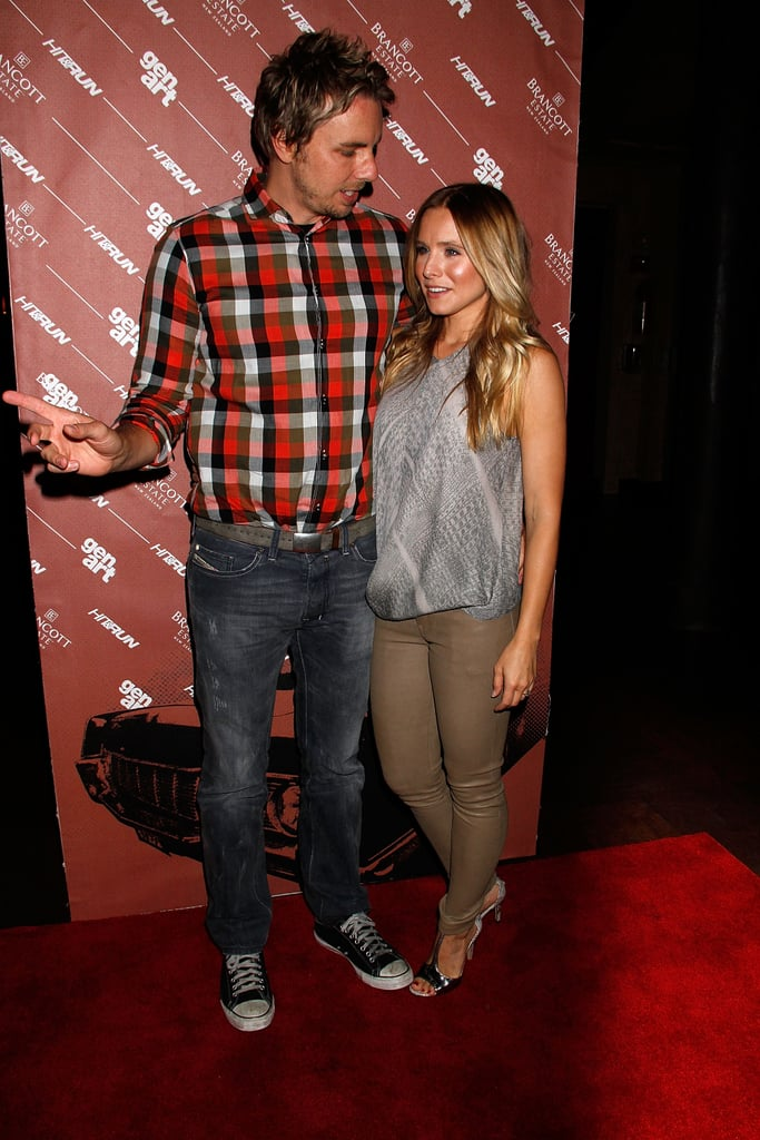 Dax Shepard and Kristen Bell chatted at the Hit and Run screening in NYC.