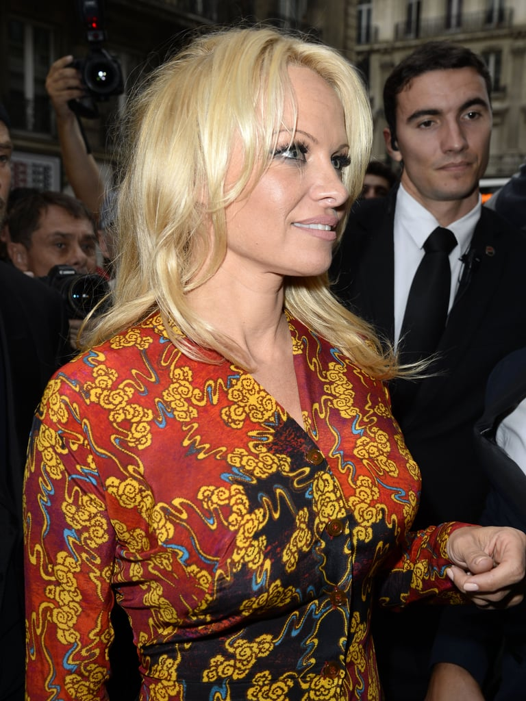 Pamela Anderson was among the attendees at Vivienne Westwood's show.
