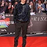 Timothée Chalamet Wearing a Sequined Hoodie at The King's Premiere