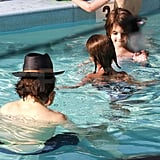 Tom Cruise and Suri swimming in Miami.