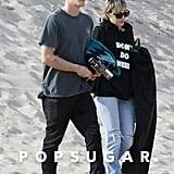 Cody Simpson and Miley Cyrus at Zuma Beach in Malibu