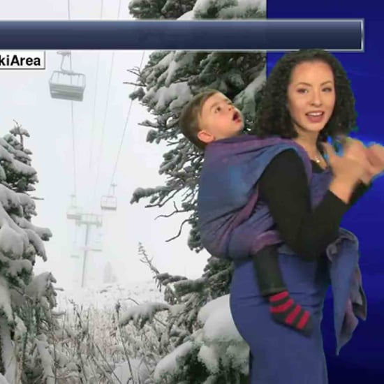 Meteorologist Wears Baby on Camera