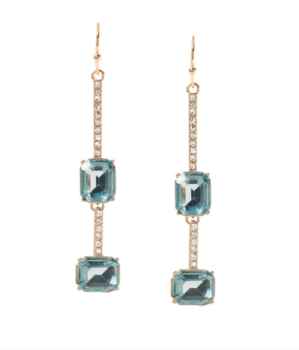 Brilliant Gemstone Pavé Earrings