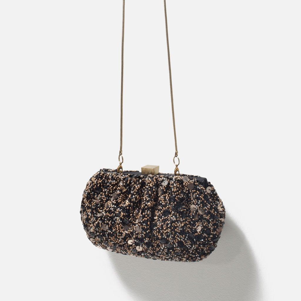 Zara Beaded Box Clutch ($80)