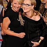 With Meryl Streep