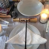 Wow guests with a table setting that resembles the Deathly Hallows symbol complete with a wand.