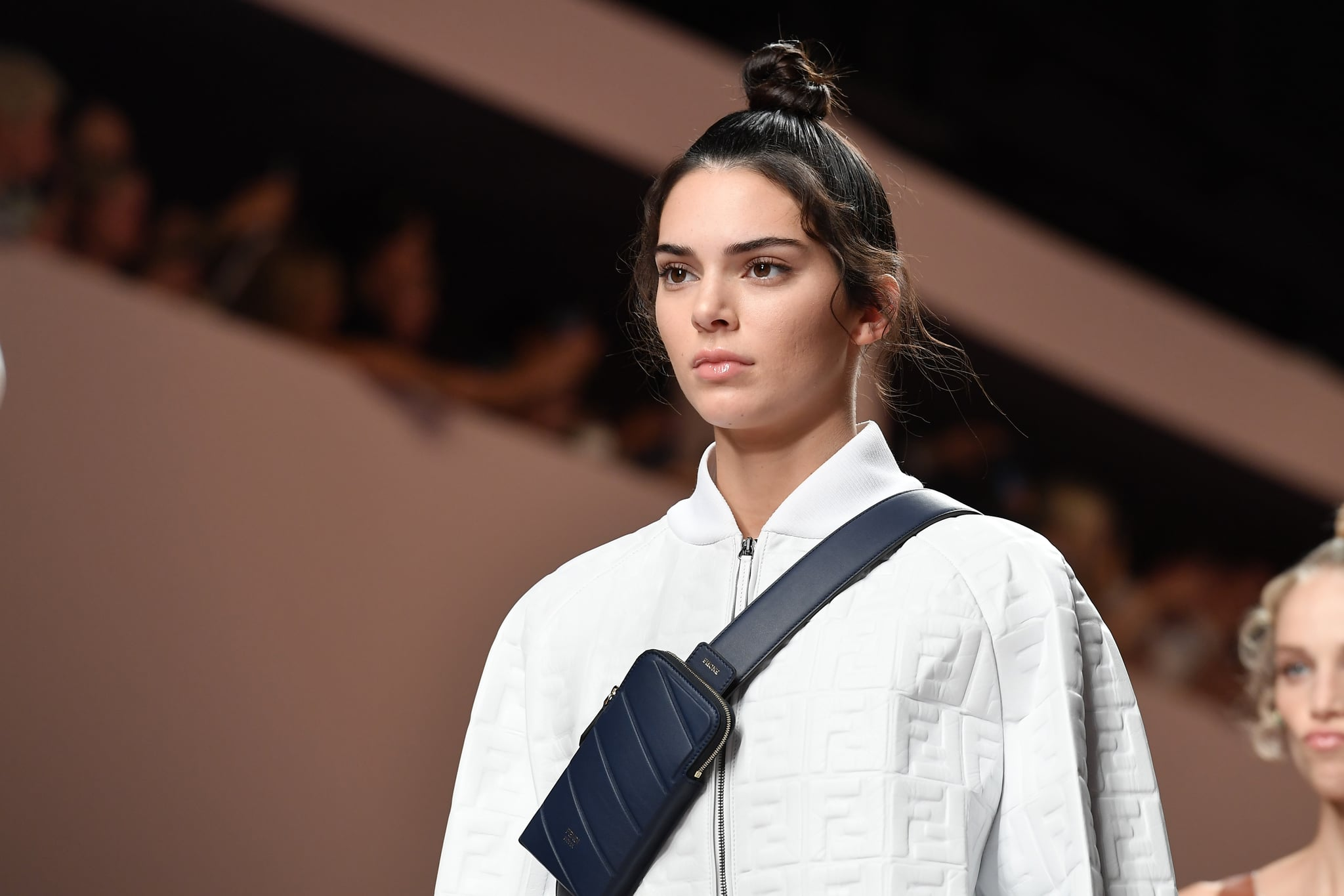 MILAN, ITALY - SEPTEMBER 20: Kendall Jenner walks the runway at the Fendi show during Milan Fashion Week Spring/Summer 2019 on September 20, 2018 in Milan, Italy.  (Photo by Jacopo Raule/Getty Images)
