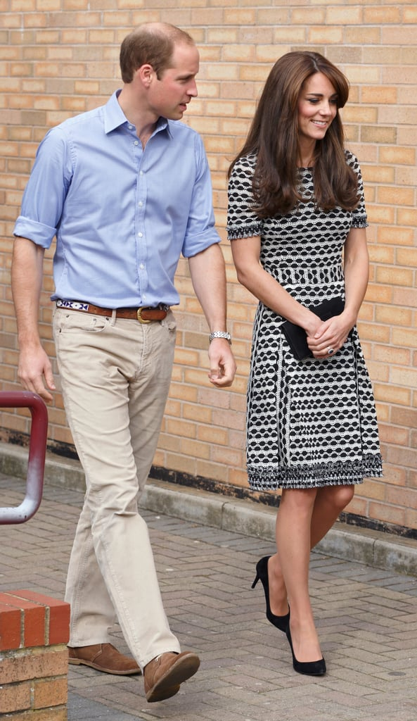 Kate Middleton wearing a Tory Burch dress at an event for World Mental Health Day in 2015.