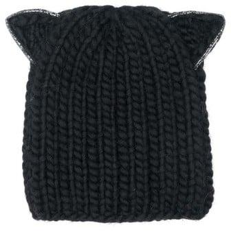 Eugenia Kim Women's Felix Cat Ears Wool Knit Beanie - Black