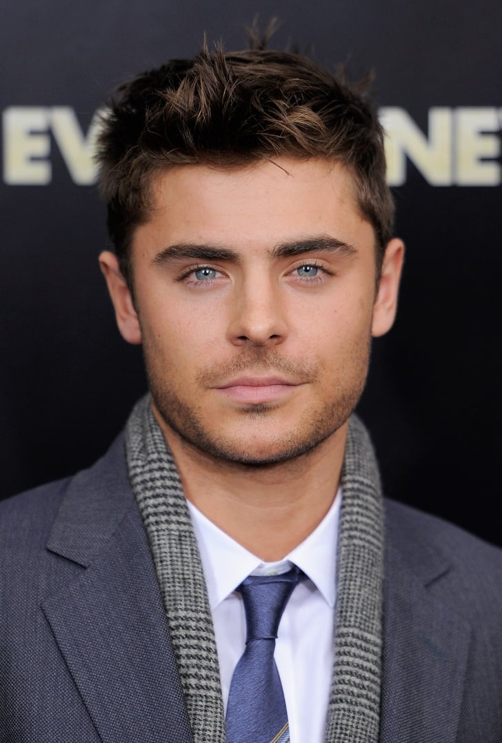 Zac Efron S Eyes Popped With The Help Of His Blue Tie