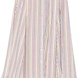 Lisa Marie Fernandez Seersucker Midi Skirt