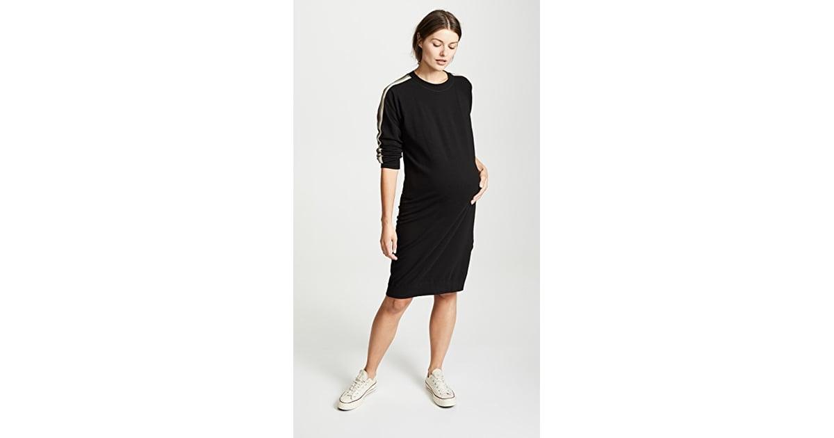 c20eeaab5f9c2 Monrow Maternity Sweatshirt Dress | Best Fall Maternity Dresses | POPSUGAR  Family Photo 13