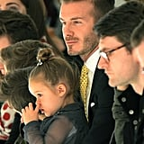 David and Harper sat front row for Victoria's runway show during NYFW in February 2014.