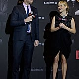 Reese Witherspoon joined director McG at the Seoul premiere for This Means War.