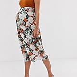ASOS DESIGN Maternity animal and floral print bias slip skirt | ASOS