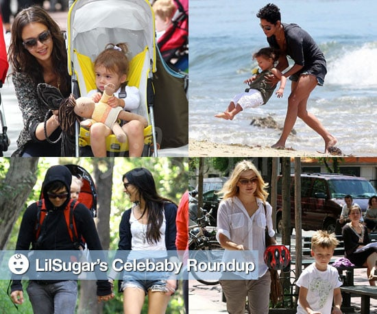 Pictures of Halle Berry, Nahla Aubry, Jessica Alba, Honor Warren, Ashlee Simpson, Bronx Wentz, Ryder Robinson, and Kate Hudson