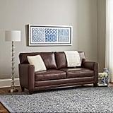 Ravenna Home Modern Faux Leather Sofa