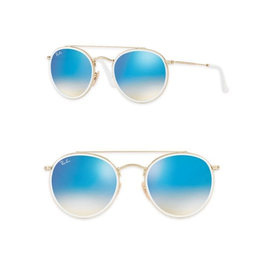 c12ab0f57 Ray Ban Mirrored Round Double Bridge Sunglasses | These Summer Must ...