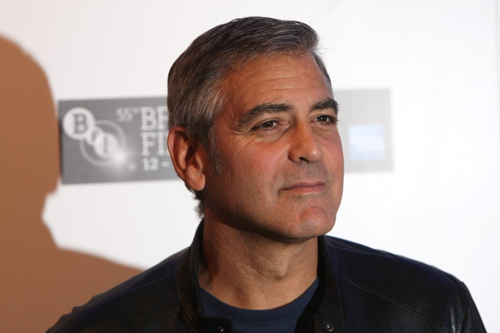 George Clooney at a press event in London.