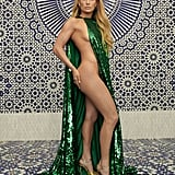 Jennifer Lopez Green Valentino Cape in InStyle December 2018