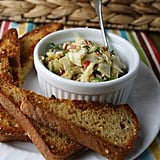 Cold Artichoke Dip With Homemade Garlic Crostinis