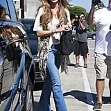 Sofia Vergara grabbed lunch with friends in LA on Monday.