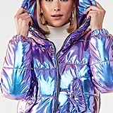 Iridescent Metallic Puffer Jacket
