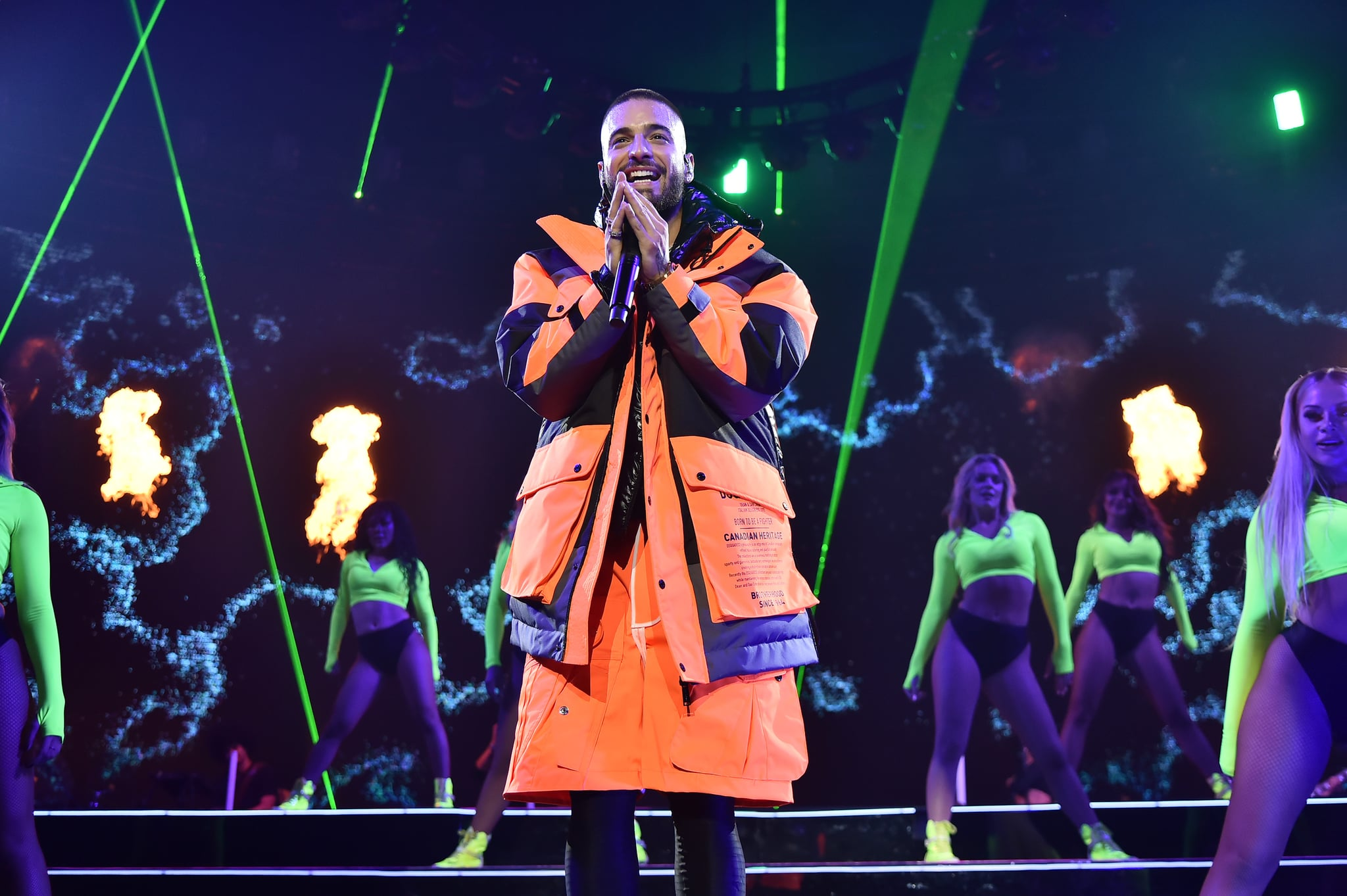 NEW YORK, NEW YORK - OCTOBER 04: Maluma performs at Madison Square Garden on October 04, 2019 in New York City. (Photo by Theo Wargo/Getty Images)