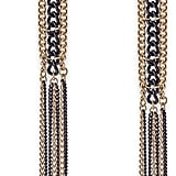 Thalia Sodi Gold-Tone and Jet Chain Drop Earrings